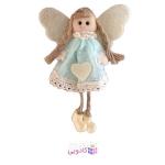 عروسک پارچه ای فرشته سفید