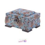 جعبه چوبی پایا چرم طرح ترمه سایز کوچک