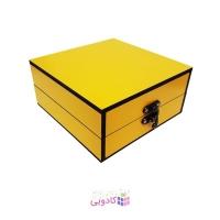 جعبه کادویی چوبی آیهان باکس زرد