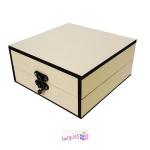 جعبه کادویی چوبی آیهان باکس طرح کرم