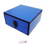 جعبه کادویی چوبی آیهان باکس طرح آبی