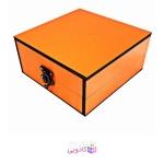 جعبه کادویی چوبی آیهان باکس طرح نارنجی