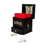 جعبه هدیه چوبی لوکس باکس طرح love کد LB200