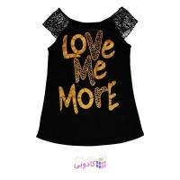 تاپ زنانه طرح Love Me More
