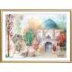 تابلو نقاشی خزان و مسجد