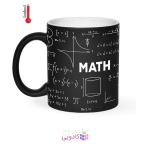 ماگ حرارتی زیگ زاگ طرح تخته سیاه ریاضی کد 1152